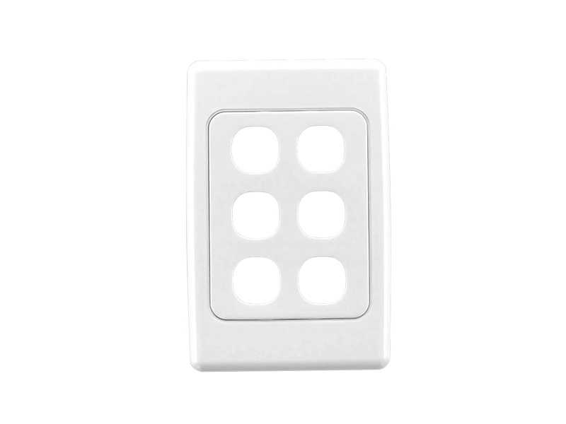 flush surround and grid plate 6 gang mount s