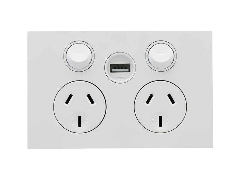 Clipsal Z4025usbc Saturn Zen Dgpo With Single Usb Charger