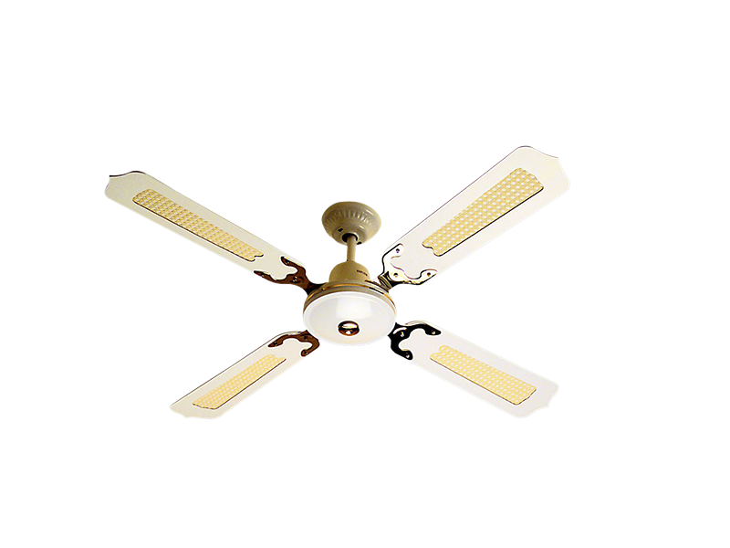 Aflr48 Ceiling Mounted Sweep Fan 48inch 4 X Rattan Timber Blades