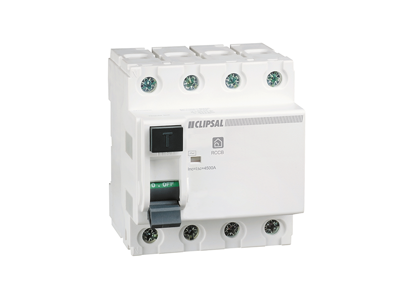 Clipsal - RCD440/30 - Residual Current Circuit Breaker, 4 Module, 4 on garage lighting circuit wiring, electrical plug wiring, three prong plug wiring,