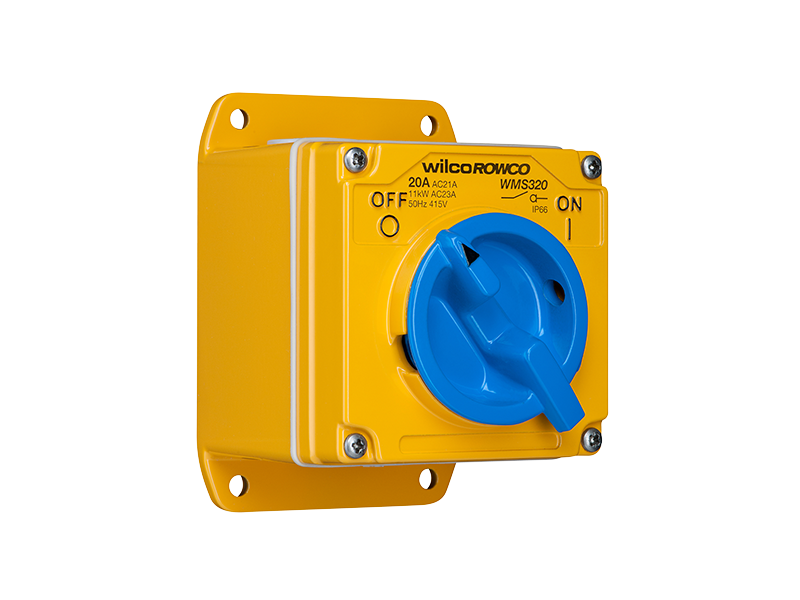 Clipsal - WMS120-TW - Switch, 1 Pole, 2-Way, 250VAC, 20A, Wilco A ...