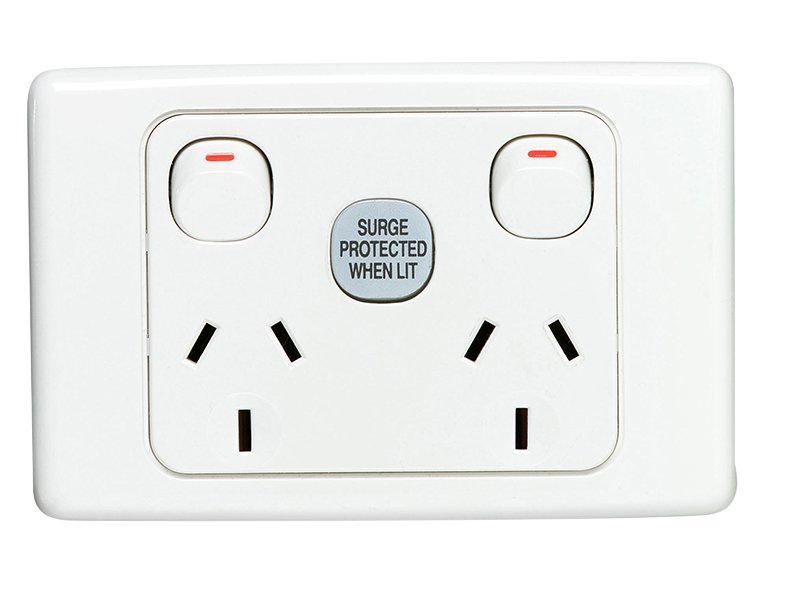 E0000683 clipsal 2025sf surge protected socket outlet, 1 pole, 250v, 10a clipsal surge protector wiring diagram at readyjetset.co