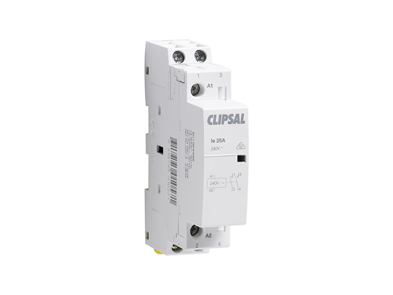 clipsal 4cnt1 contactor, 1 and 2 pole, 1 module, 20a at ac1, 220  4cnt1 contactor, 1 and 2 pole, 1 module, 20a at ac1, 220 250vac coil, 1 no