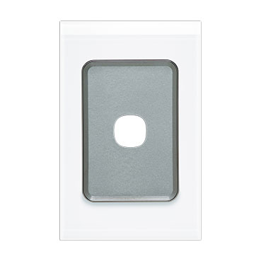 Clipsal Saturn 4000 Switch Grid Plate And Cover, 1 Gang, Vertical/Horizontal Mount