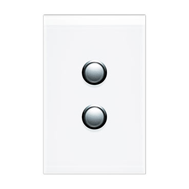 Clipsal Saturn 4000 Switch Cover, 2 Gang