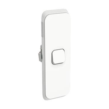 Vivid White Clipsal Iconic Flush Switch Vertical Mount 1 Gang 250v 10ax Led