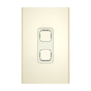Clipsal Iconic Styl Switch Plate Skin, Vertical/Horizontal, 2 Gang